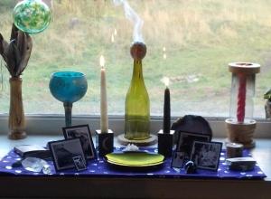 My ancestor altar for Samhain 2013.